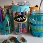 Washi Tape Mason Jar Desk Organizers for Back to School #BTS