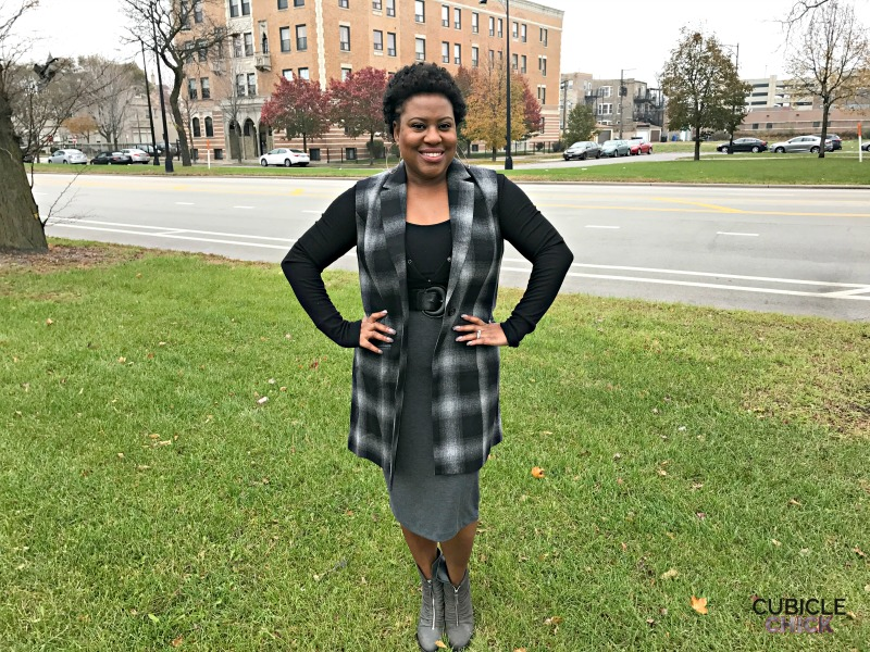 How to Wear Wool, Plaid, and a Pencil Skirt for a Winter Look #ad