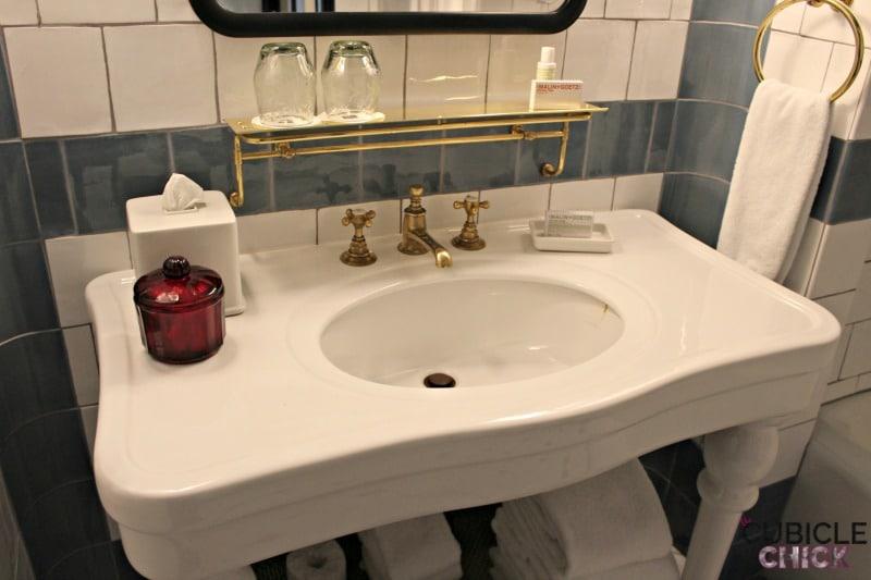 Hotel Emma Bathroom Sink The Cubicle Chick - Bathroom sinks san antonio