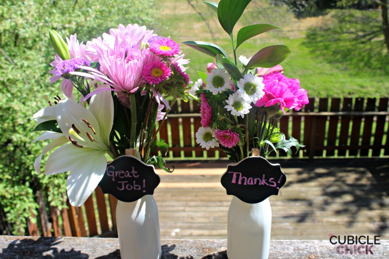 Administrative Professionals Day Gift Idea: DIY Milk Jar Vase