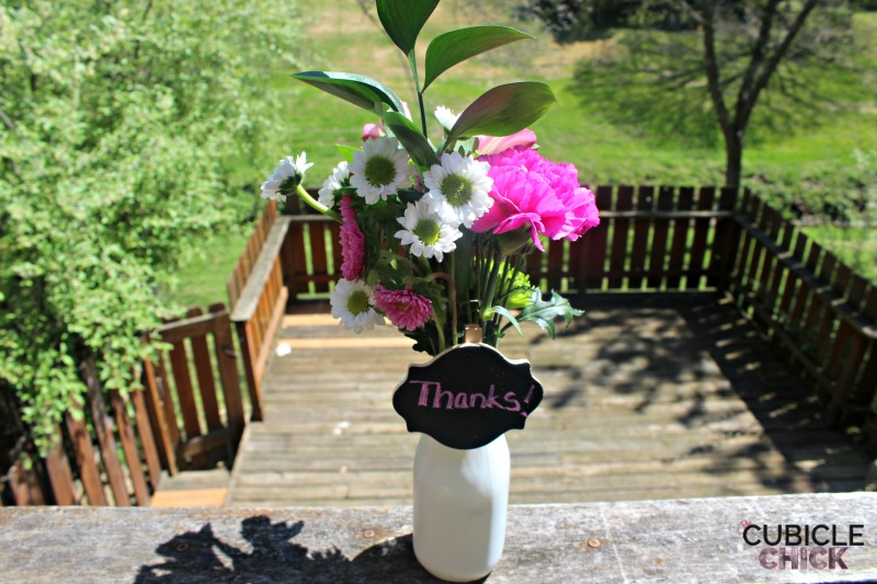 DIY Milk Jar Vase