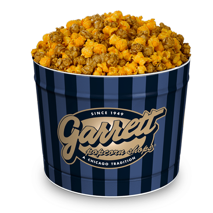 About Garrett Popcorn If you crave fresh, delicious popcorn, you'll love Garrett Popcorn Shops. Every batch of hot air popped popcorn is handmade daily to satisfy your sweet and salty cravings.