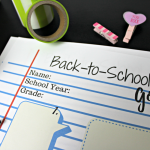 Back to School Goals Printable Worksheet