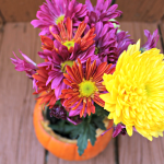 DIY Thanksgiving Centerpiece: Pumpkin Flower Arrangement
