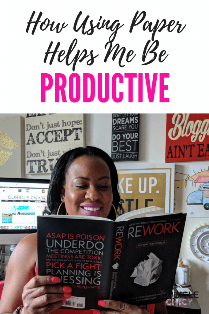 I am sharing tips on how using paper helps me be productive and efficient even when I am not tapped in digitally.