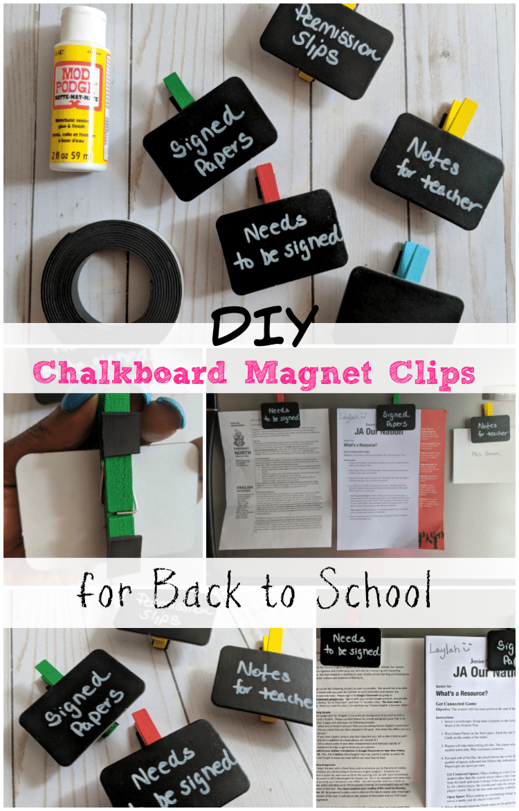 With my Chalkboard Magnet Clips, you'll never have to look for important school papers again. Learn how to make them for your student.