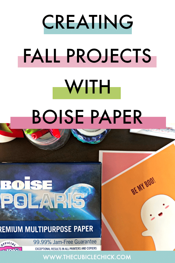 In a sponsored conversation with Boise Paper, I am sharing tips on creating memorable fall projects that are fun for the whole family.