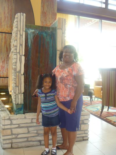 My aunt & daughter at the Hilton Branson Convention Center Hotel