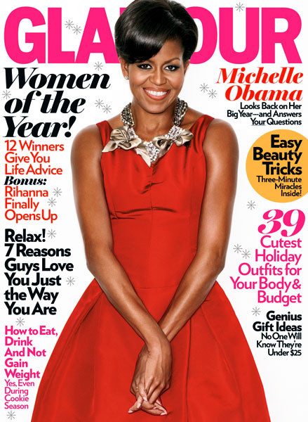 The Glamour cover with Michelle Obama.