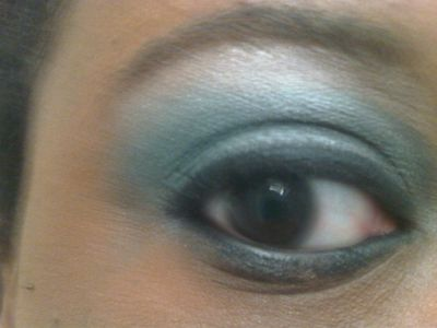 The colors are Eastern influenced. Stila 'Onyx' eyeliner was used.