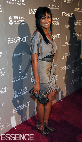 Actress Tatyana Ali was also on hand in a beautiful slate gray dress
