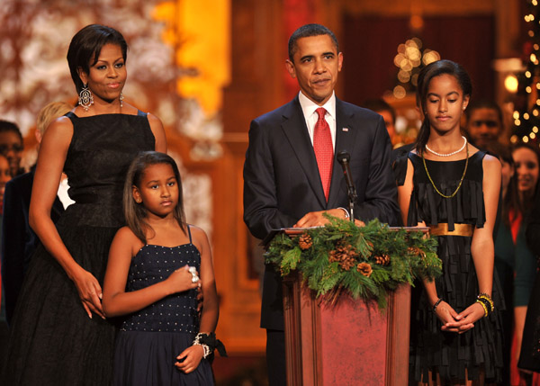 The First Family & Other Celebs Celebrate TNT's Christmas in Washington 2010 (Pics)