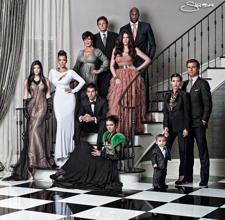 The Kardashian Family 2010 Holiday Card (are they serious?)