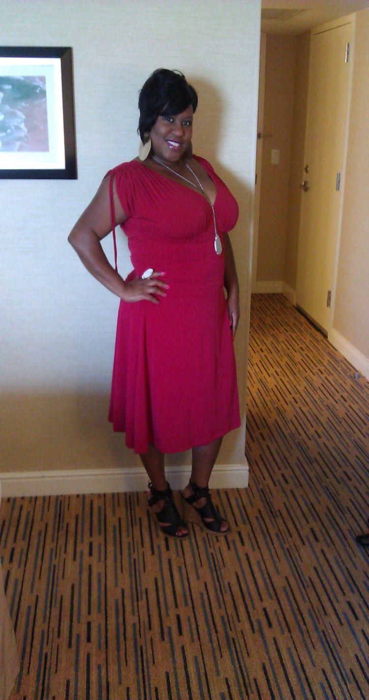 My Rockin' BlogHer Kiyonna Red Dress