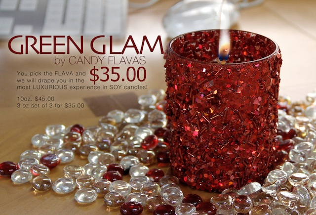 Fab Giveaway: Win a Candy Flavas 'Green Glam' Scented Candle