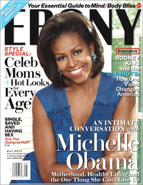 FLOTUS Michelle Obama On Cover of Ebony Magazine's May Issue