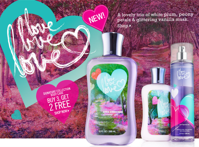 Bath & Body Works Gift Card Giveaway: Love Love Love