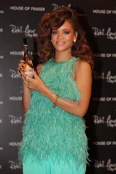 Summer Style Spotlight on Rihanna: Celebrity Mint Green Trend