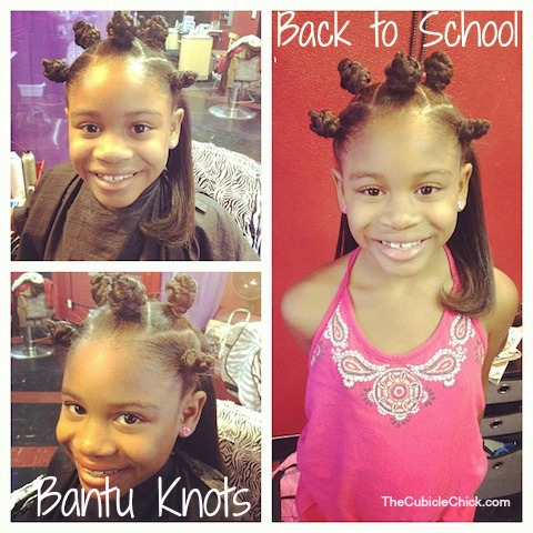 Back to School Style: Natural Hair Bantu Knots for The Chicklet