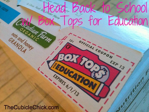 Head Back to School And Raise Money With Box Tops For Education