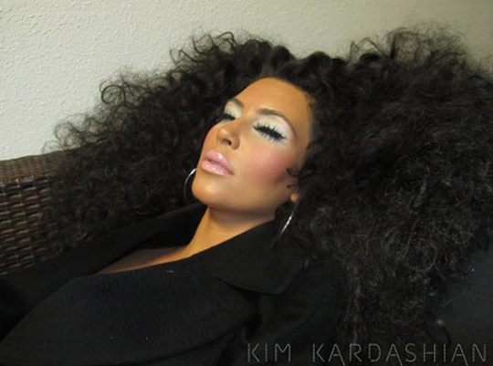 Do We Like It? Kim Kardashian Rocks the Diana Ross Look for Photo Shoot