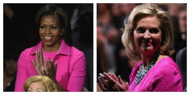 Michelle Obama & Ann Romney Wear Pink to Support Breast Cancer Month