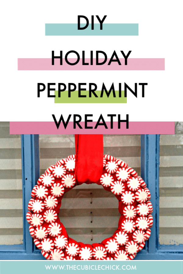 A peppermint wreath is the perfect solution for someone wanting a minty fresh spin (pun intended!) on the traditional holiday wreath.
