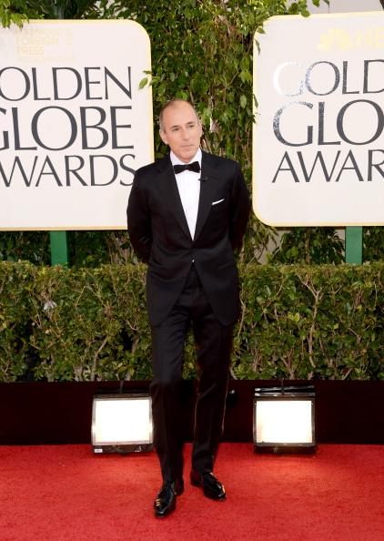Matt Laurer- 70th Annual Golden Globe Awards - Arrivals