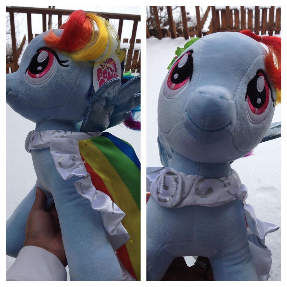 My Little Pony Rainbow Dash from Build a Bear Workshop