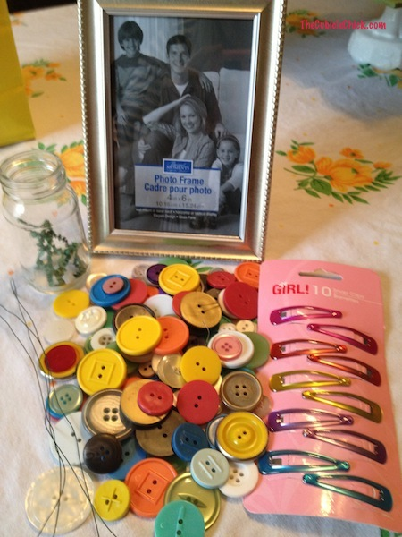 Items for Spring Button Crafts