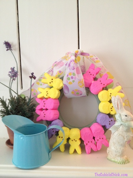 DIY Easter Peep Wreath