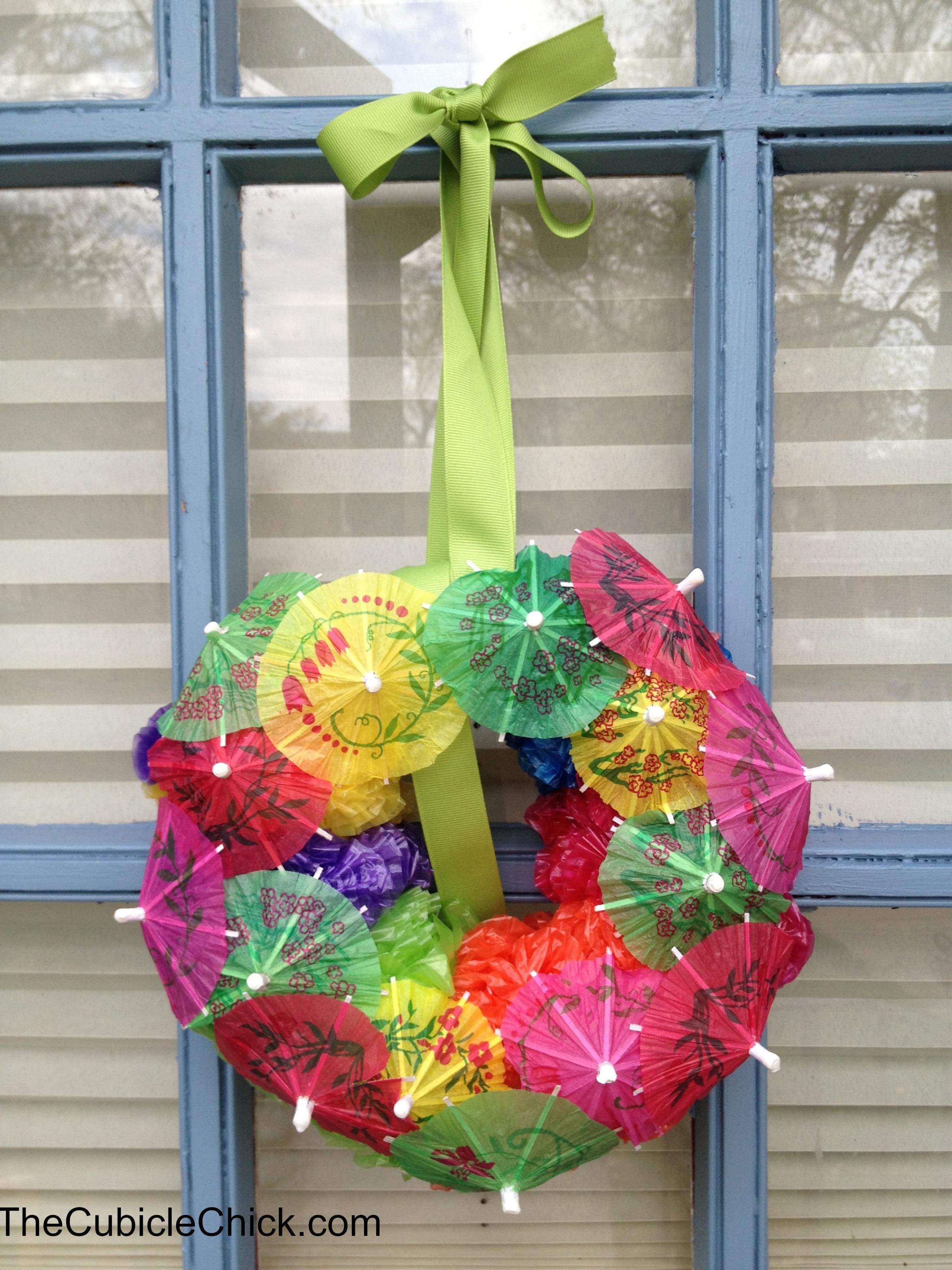 DIY Hawaiian Luau Wreath Craft