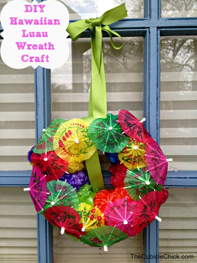 DIY Hawaiian Luau Wreath Craft