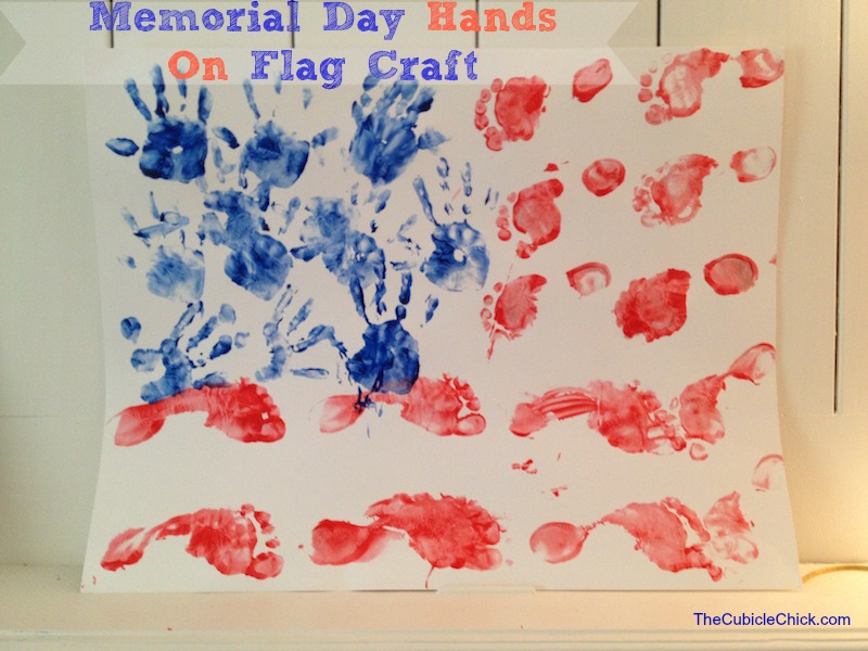 Memorial Day Hands On Flag Craft