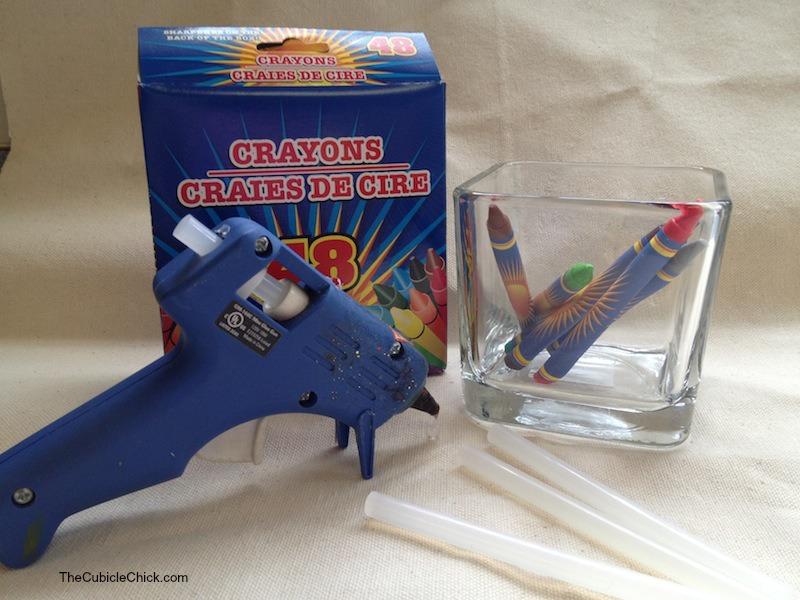 Teacher Appreciation Day DIY Crayon Vase Gift Items
