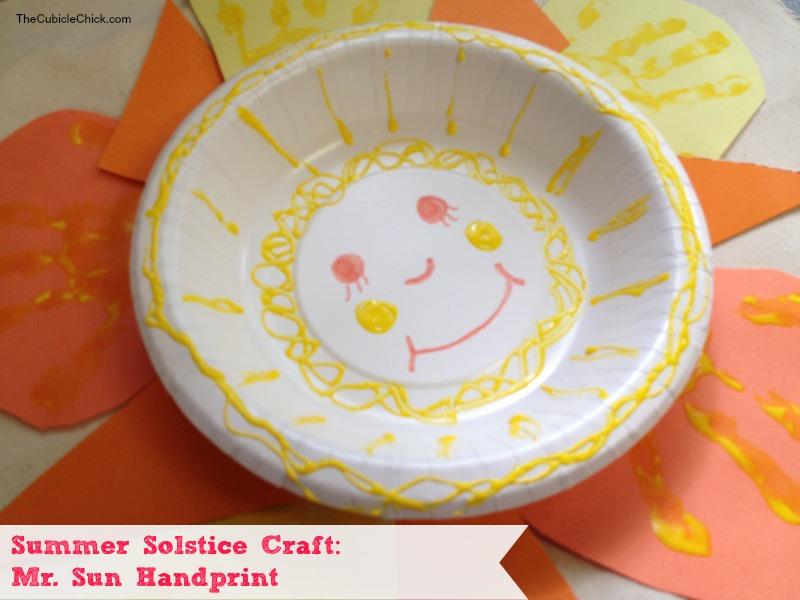 Summer Solstice Craft Mr. Sun Handprint