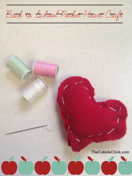 Back to School Pocket Heart Craft