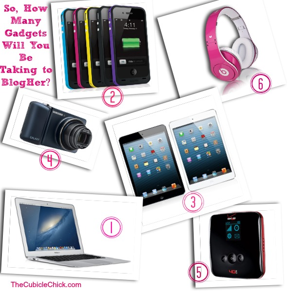 So, How Many Gadgets Will You Be Taking to #BlogHer13?