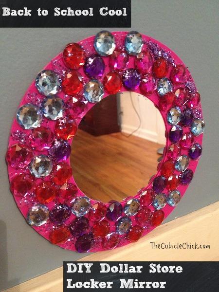 DIY Dollar Store Locker Mirror