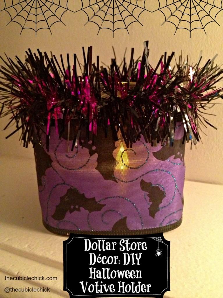 Dollar Store Décor DIY Halloween Votive Holder