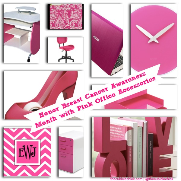 Honor Breast Cancer Awareness Month with Pink Office Accessories