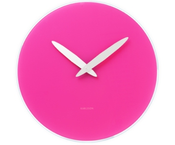 Present Time Pink Wall Clock