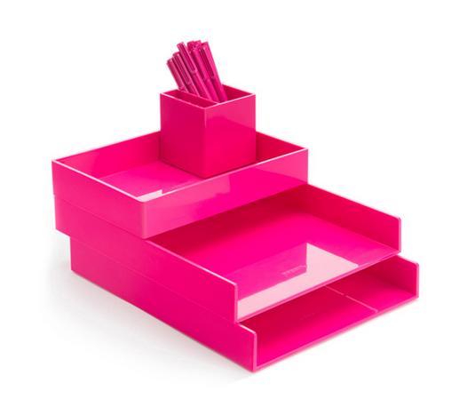 Poppin Pink Desktop Set