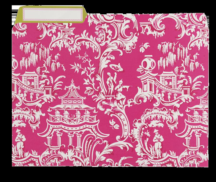 Pink File Folders