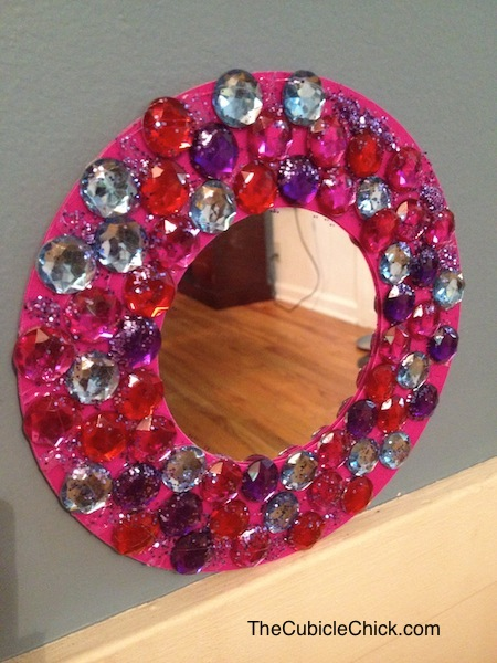 Back to School Cool: DIY Dollar Store Locker Mirror