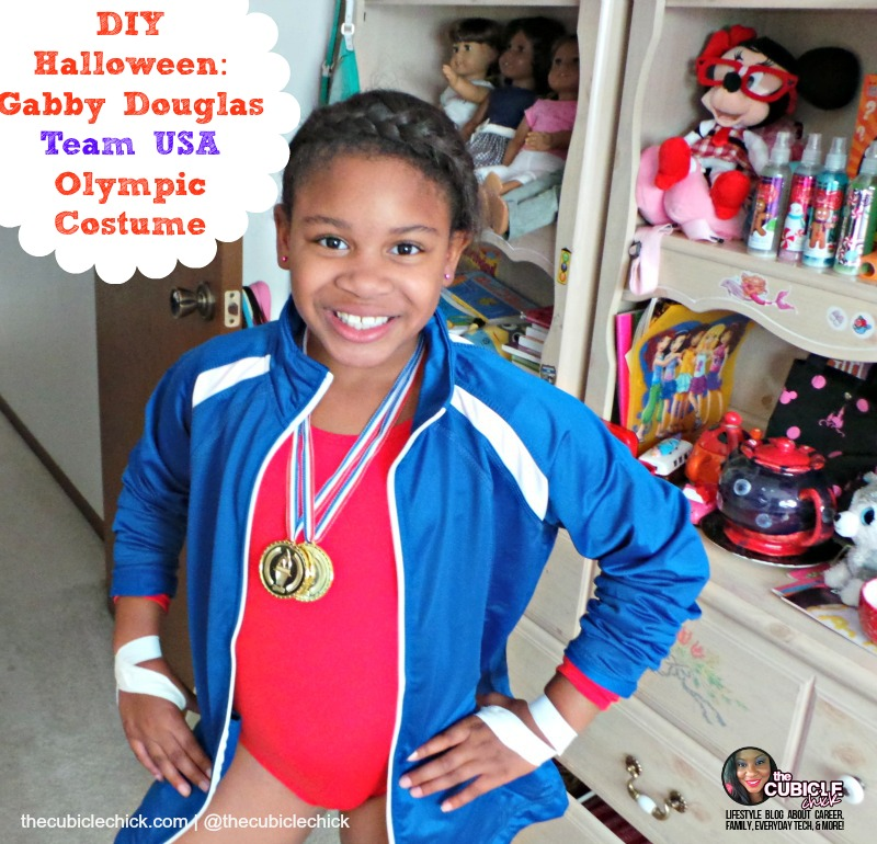DIY Halloween Gabby Douglas Team USA Olympic Costume