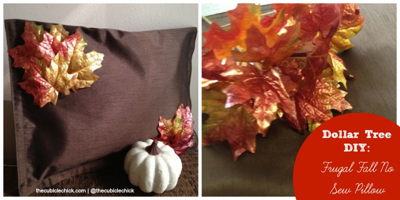 Dollar Tree DIY Frugal Fall No Sew Pillow