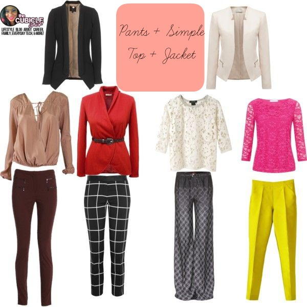 Pants + Simple Top + Jacket