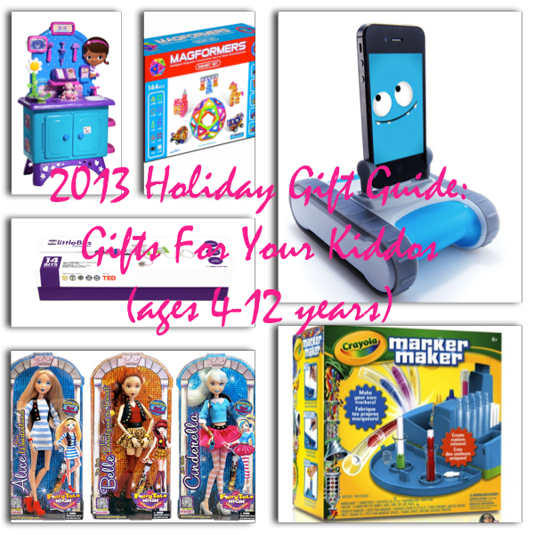 2013 Holiday Gift Guide- Gifts For Your Kiddos (ages 4-12 years)