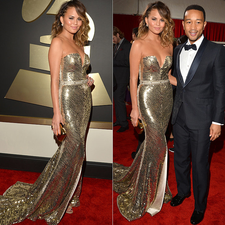 Chrissy Teigen 2014 Grammy Awards